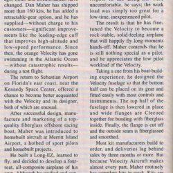 Magazine: Kitplanes November 1991 – Flying the Velocity