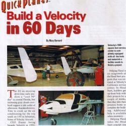 Magazine: Kitplanes November 2000 – 60 Days to Build a Velocity