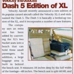 Magazine: Kitplanes December 2003 – Dash-5