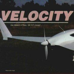 Magazine: Sport Aviation – April 1986 Velocity