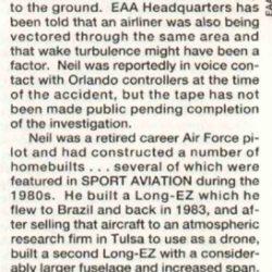 Magazine: Sport Aviation December 1992 – Neil Hunter Crash