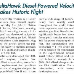 Magazine: Sport Aviation June 2003 – Delta Hawk Velocity