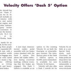 Magazine: Sport Aviation October 2003 – Dash-5 Launch