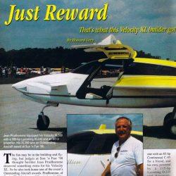 Magazine: Kitplanes April 1999 – Just Reward – Jean Prudhomme N140JP