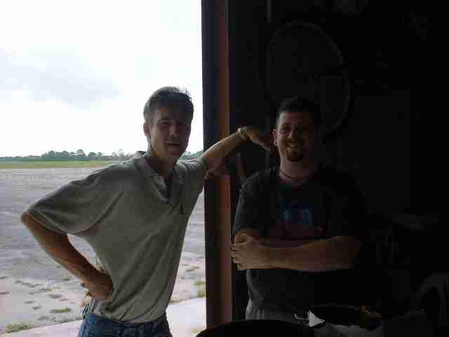 Brett and Frank Ware at Velocity Headstart Program June 2002