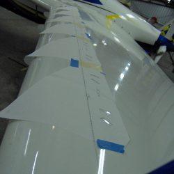 Installing the Vortex Generators on Wings
