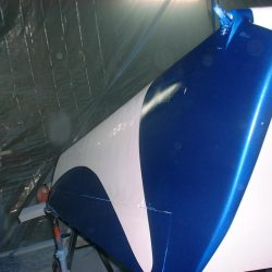 Spraying Clear Coat onto Wings
