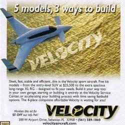 2002 Velocity Ad – 5 Models 3 Ways to Build