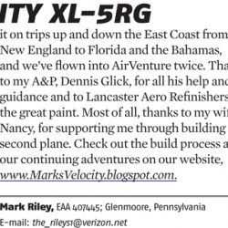 Rileys in Sport Aviation, April 2012