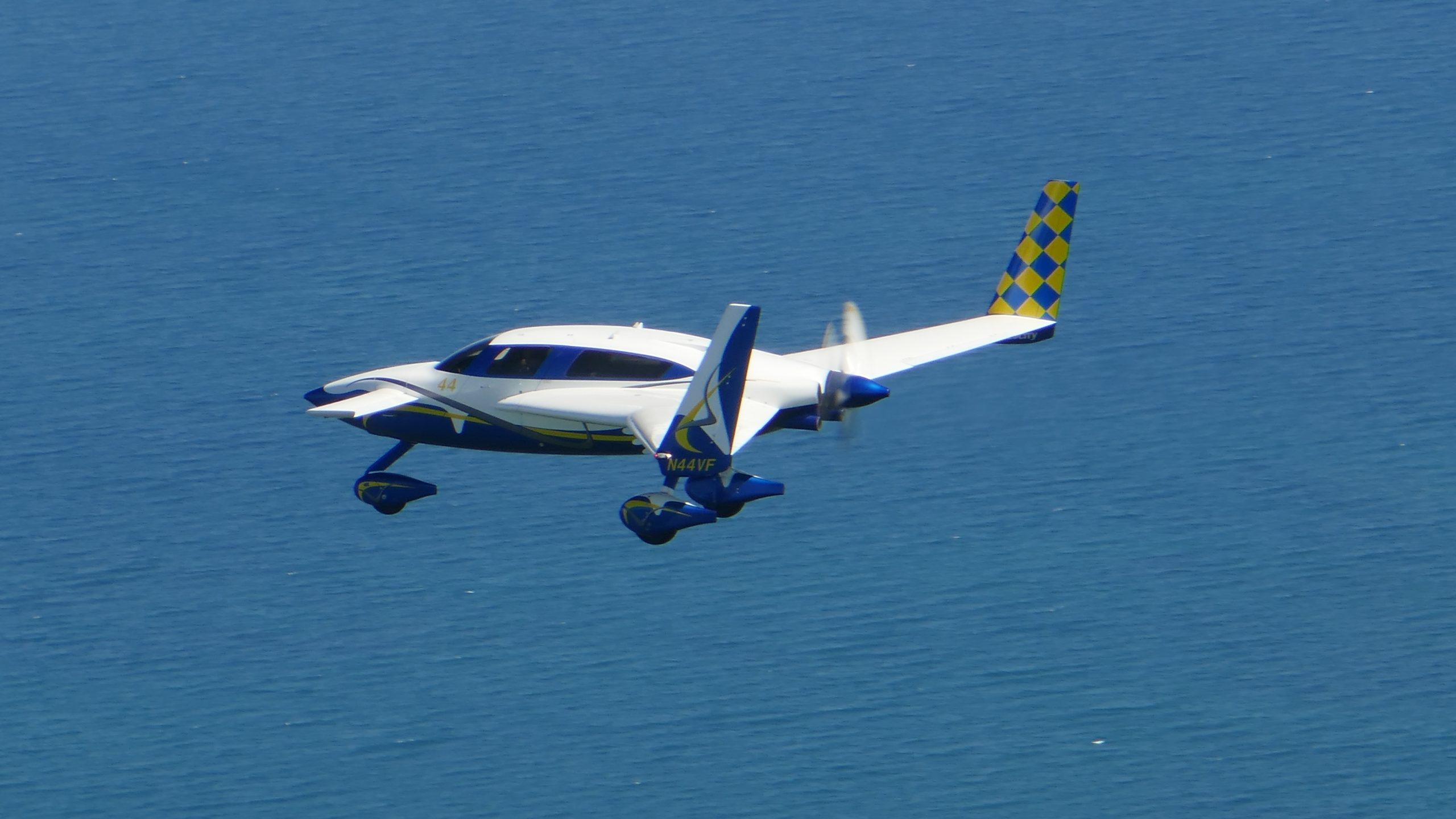 N44VF over Lake Superior